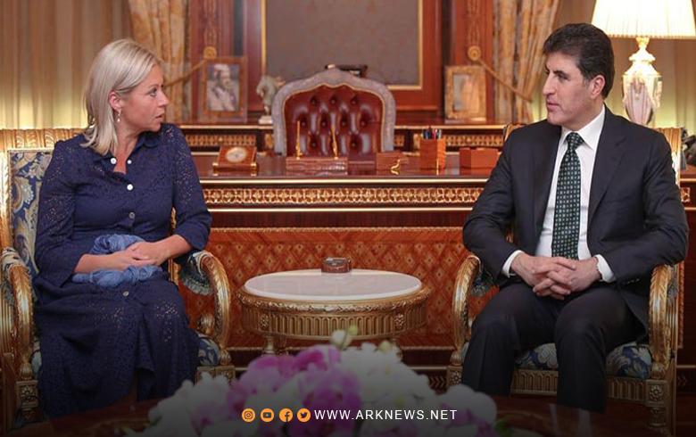 نيجيرفان بارزاني و جينين بلاسخارت يبحثان نتائج الانتخابات البرلمانية التي جرت في العراق قبل ايام