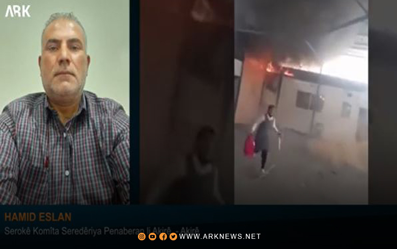 Hamid Aslan The losses of the fire that broke out in the Akre Castle School for Syrian Kurdistan refugees were limited to material