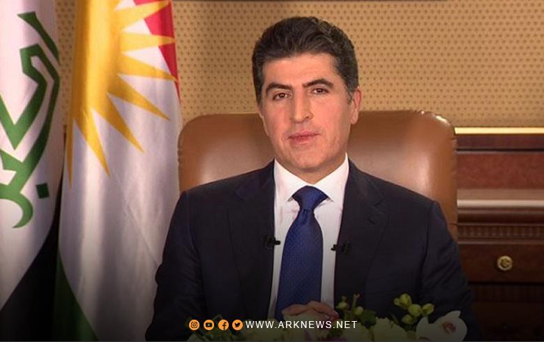 رسالة تهنئة رئيس إقليم كوردستان بمناسبة قدوم عيد الأضحى