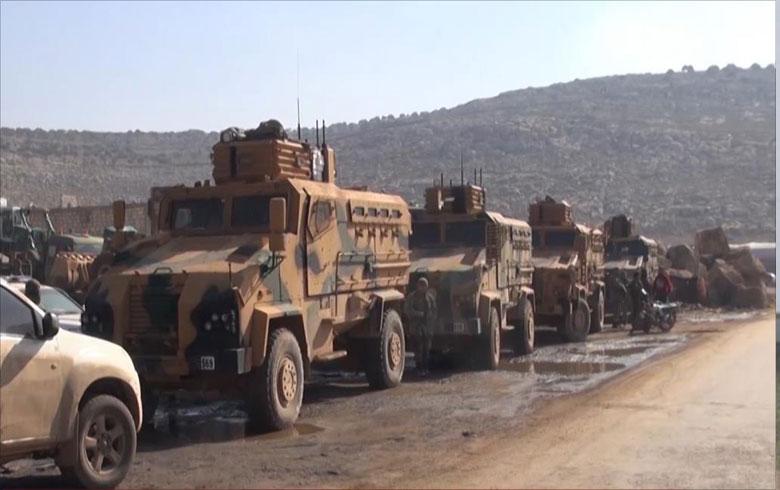 رتل تركي يدخل إدلب مع انخفاض حدة التصعيد
