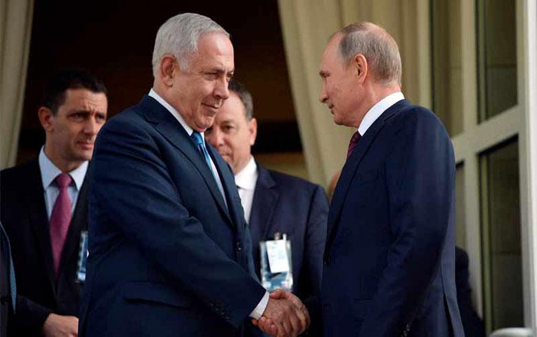نتنياهو يبحث هاتفياً مع بوتين الوضع في سوريا