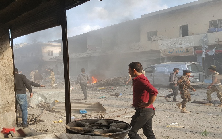 More casualties raise the death toll to about 15 civilians and fighters in the booby-trapped car explosion in Gire Spi(Tal Abyad) city