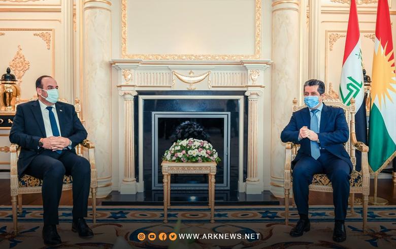 رئيس حكومة إقليم كوردستان يستقبل رئيس الإئتلاف الوطني لقوى الثورة و المعارضة السورية