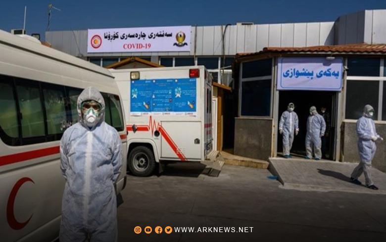 إقليم كوردستان يسجل أكثر من 1300 إصابة جديدة بفيروس كورونا خلال 24 ساعة