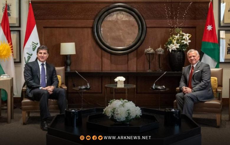 Contents of the meeting between President Nechirvan Barzani and King Abdullah II