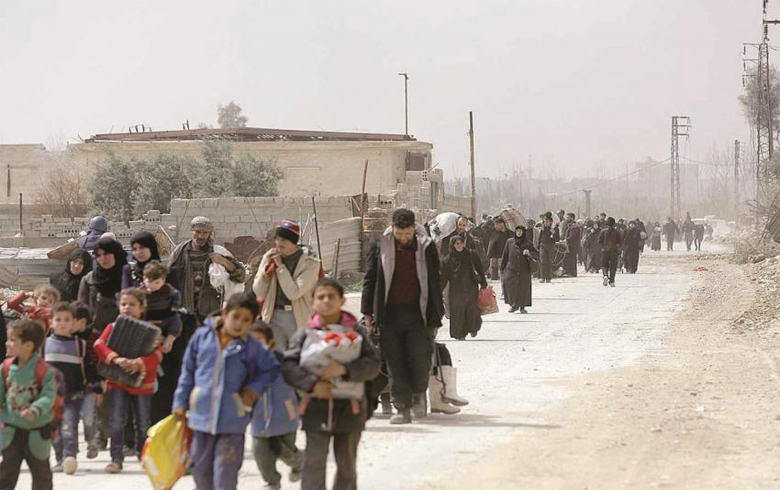 Ongoing military escalation in north-west of Syria, the displacement of 1,009,346 people from the de-escalation zones