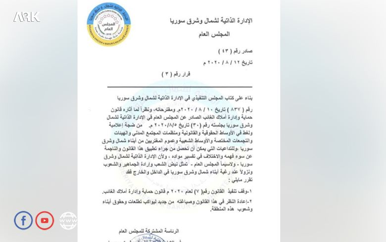 The PYD stops implementing the law on Protection and Management of absentee property