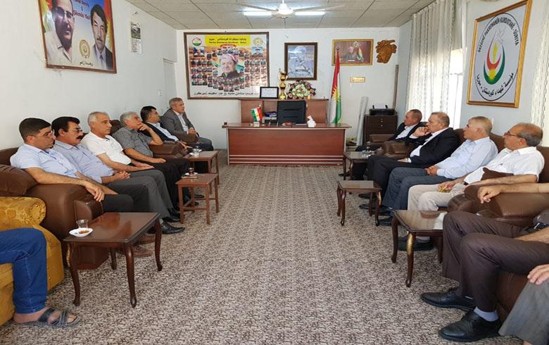 وفدان من لقي 8 للـ PDK وبلدية زاخو یزوران مكتب تنظيم زاخو للـ PDK-Sê