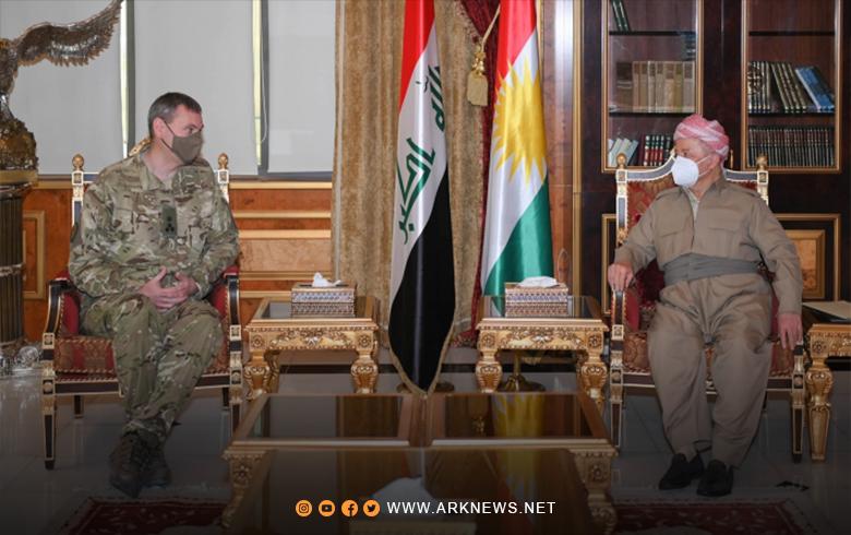 الرئيس بارزاني يستقبل نائب القائد العام لقوات التحالف في العراق وسوريا