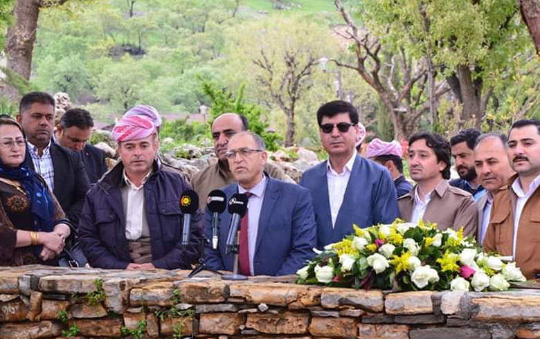 Representative of the National Council in the Kurdistan Region visits the shrine of Mullah Mustafa Barzani the immortal