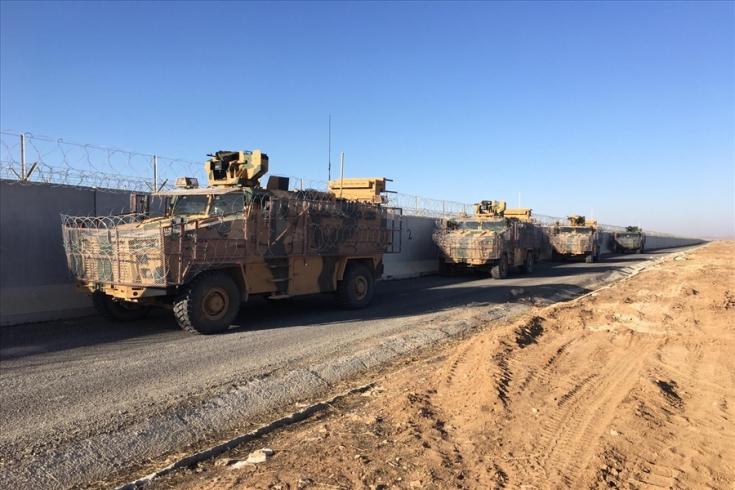 الدفاع التركية تعلن استكمال الدورية المشتركة الثامنة في كوباني .