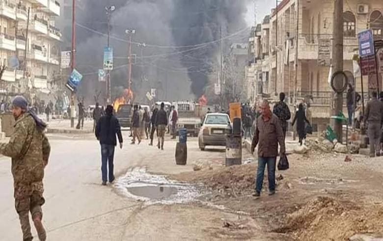 A car bomb explosion shook Afrin city, there were victims