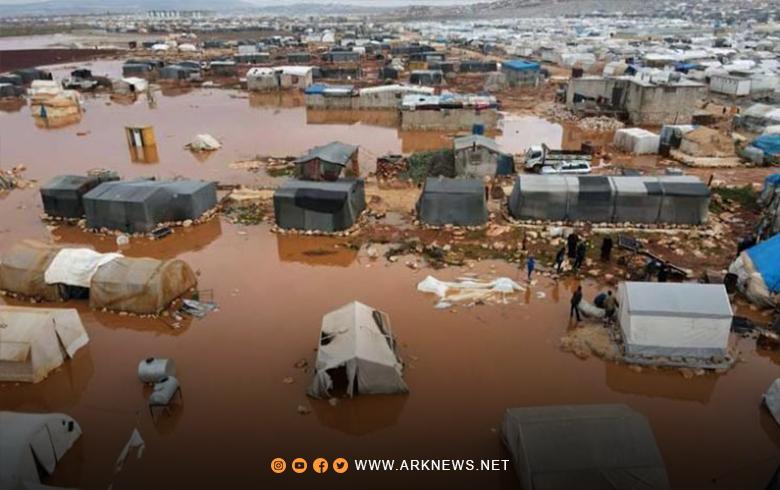 الأمم المتحدة تعرب عن القلق بشأن أوضاع النازحين بسبب الطقس السيئ شمالي سوريا