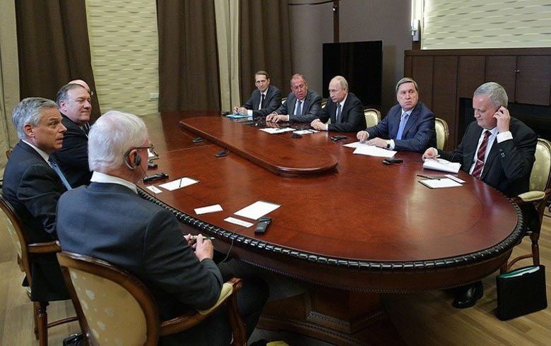 اجتماع بین بوتين ومايك بومبيو ، والازمة السورية احد محاور الاجتماع