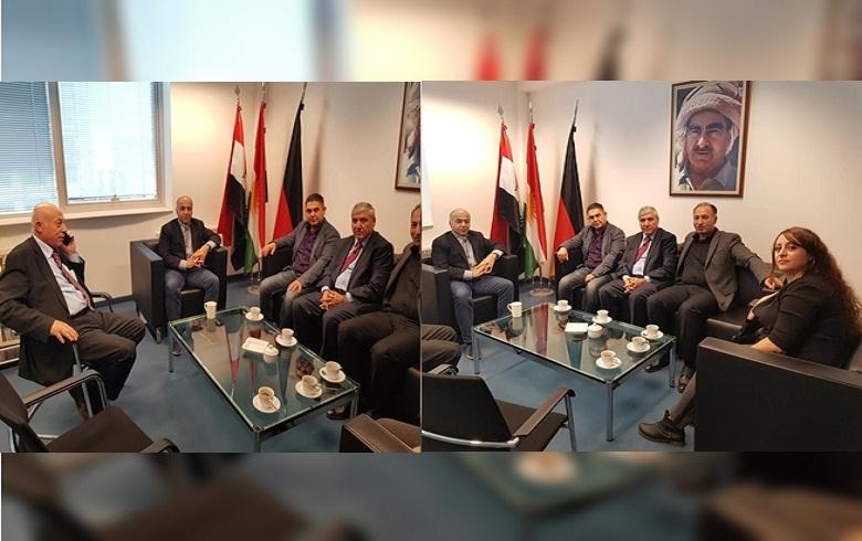 ألمانيا.. وفد من الـ PDK-S يجتمع مع ممثل إقليم كوردستان