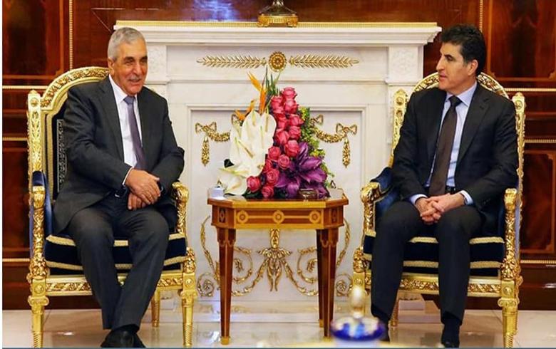 رئیس إقلیم كوردستان یجتمع مع وفد الهیئة الرئاسية للـ ENKS