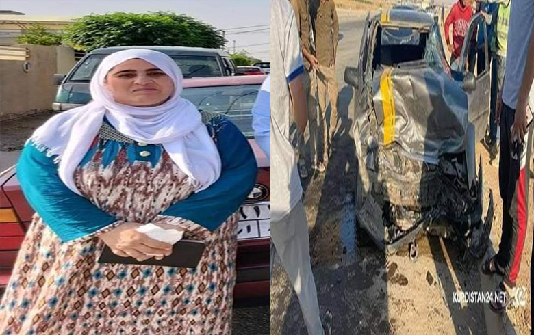 A refugee from Kobani loses her life in a traffic accident in the Kurdistan Region