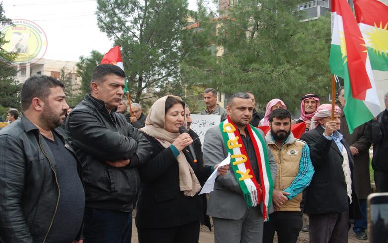 اعتصام للمجلس الوطني الكوردي في قامشلو بمناسبة اليوم العالمي لحقوق الإنسان