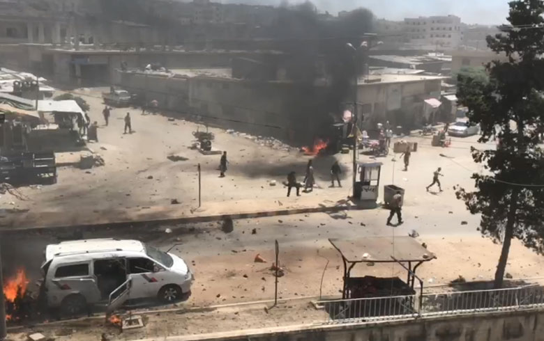 Afrin: Two car bombs exploded and dozens of victims