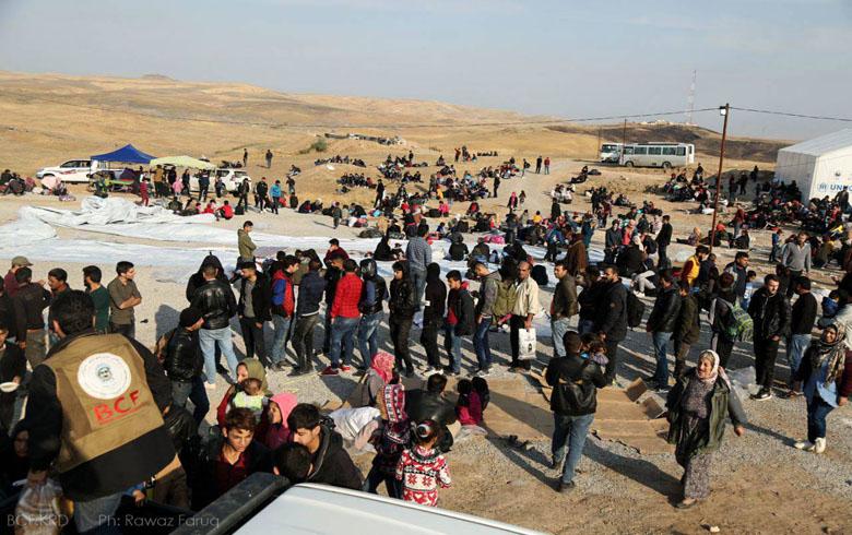 أعداد اللاجئين السوريين الواصلين إلى اقليم كوردستان تتجاوز الـ15 ألف لاجىء