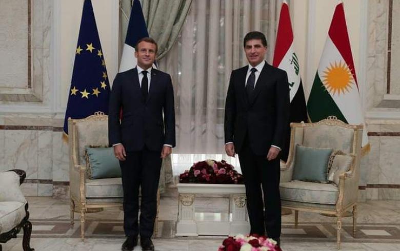 Makron: Em ê li ser piştgîriya Herêma Kurdistanê berdewam bin