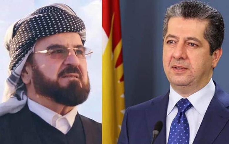 برقية تعزية من رئيس حكومة إقليم كوردستان