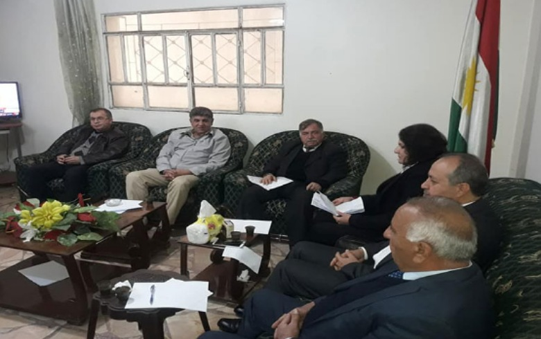 Local councils of the Kurdish National Council meet in Qamishlo
