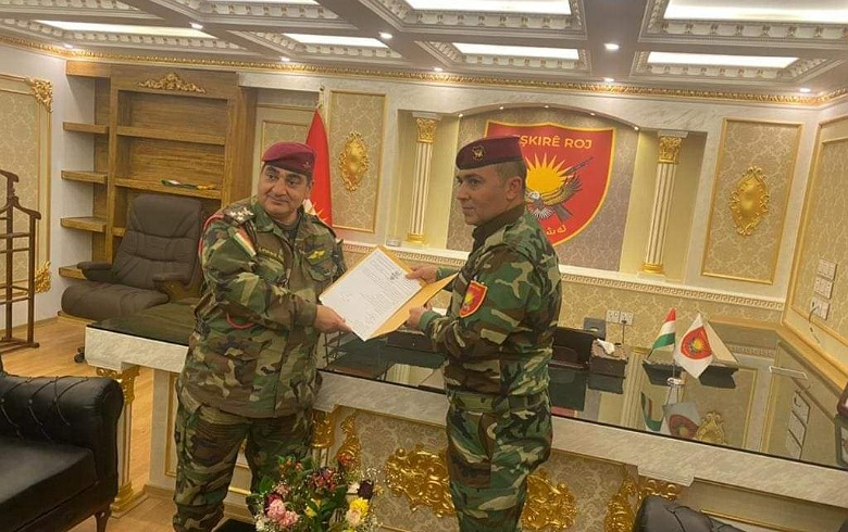 The appointment of Colonel Dilovan Robari as Commander-in-Chief of the Roj Peshmerga