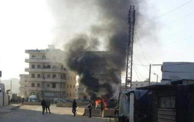 بالفيديو... جرحى نتيجة انفجار بمدينة في كوردستان سوريا