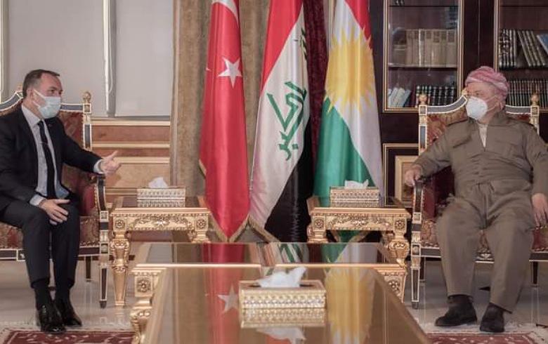 What happened between President Barzani and the Turkish ambassador?