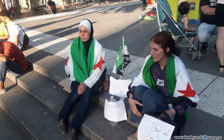 More Syrians Join Hunger Strike in Europe in Protest over Regime Bombing of Idlib