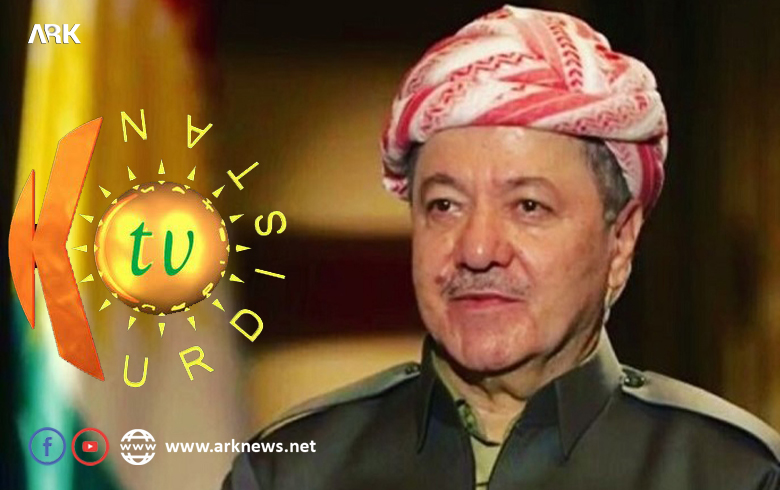 Serok Barzanî Kurdistan TV pîroz kir