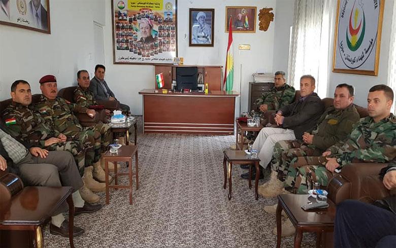 زيارة وفد من قادة بيشمركة روج إلى مكتب PDKS في زاخو