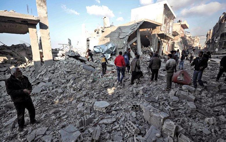 Nearly 40 Russian airstrikes kill seven civilians mostly children in Aleppo