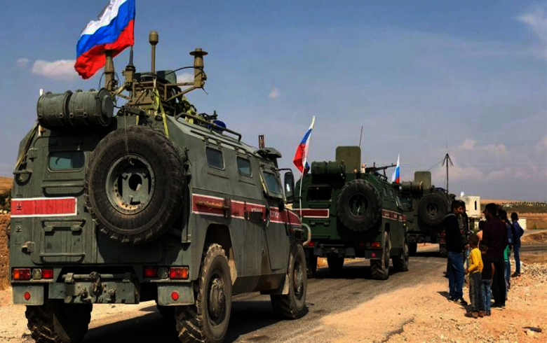 Russia and Turkey begin the ninth joint patrol in northeastern Syria