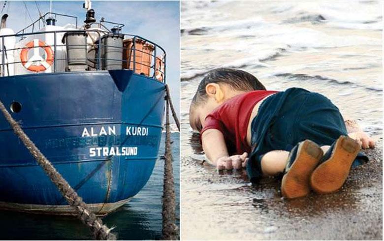 اطلاق اسم الان الكوردي على سفينة إنقاذ ألمانية