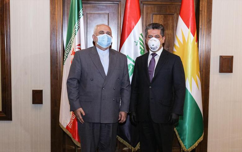 مسرور بارزاني و جواد ظريف يبحثان سبل تعزيز العلاقات بين كوردستان وإيران