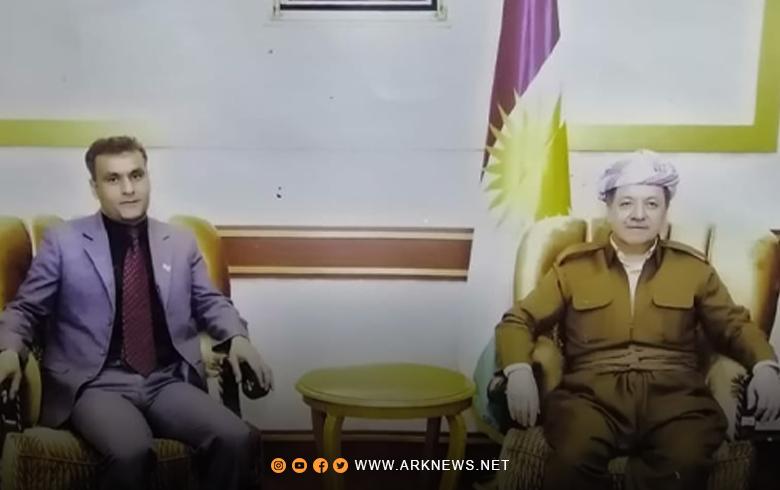 الرئيس بارزاني يشكر أحد بيشمركة روج على إصداره