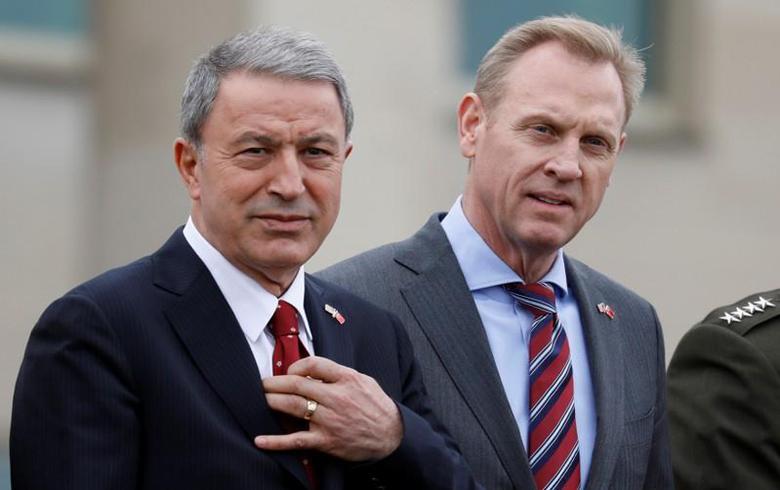 شاناهان واكار يبتاحثان العمليات العسكرية في سوريا ضد تنظيم داعش الارهابي