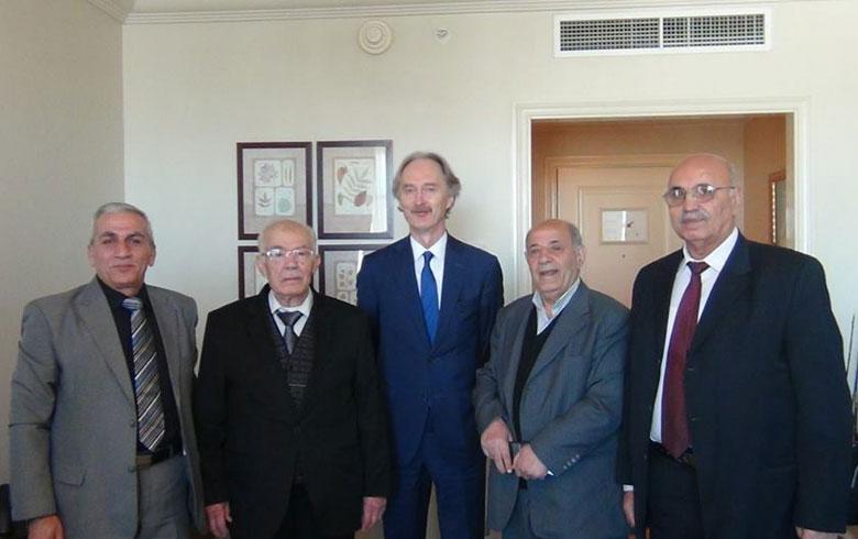 بيدرسون يلتقي بهيئة التنسيق الوطنية في دمشق