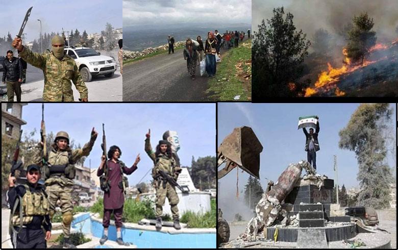 عامٌ على دخول الفصائل المسلحة إلى مركز مدينة عفرين