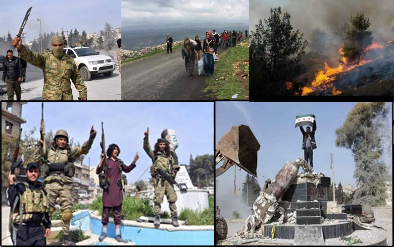 A year on the invasion of Turkey and armed groups to Afrin region
