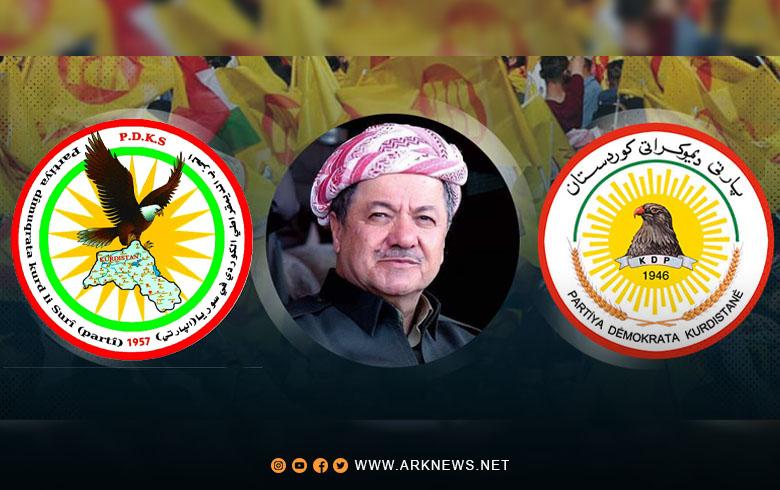 الحزب الديمقراطي الكوردي في سوريا (الپارتي) يوجه برقية تهنئة إلى الرئيس مسعود بارزاني