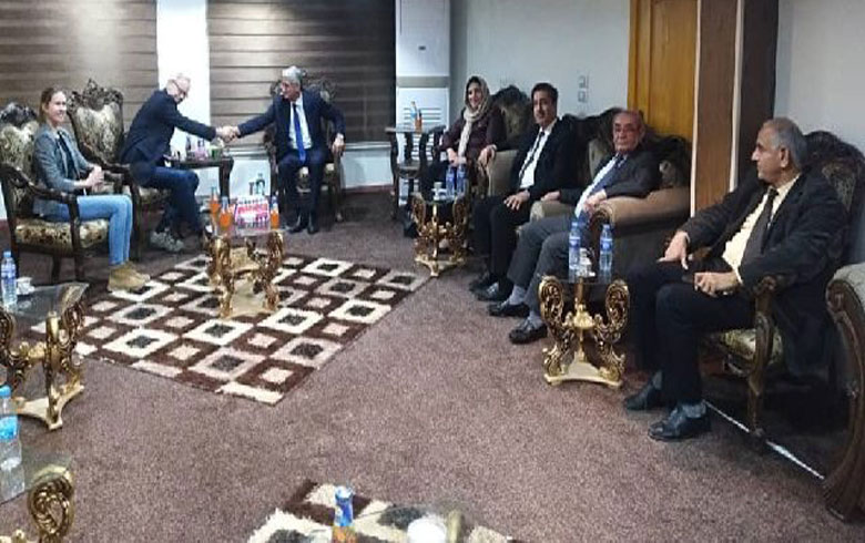 A delegation from the Kurdish National Council meets US Ambassador William Ruback