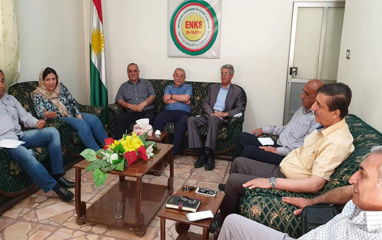 The parties of the Kurdish National Council in Syria meet in Qamishlo