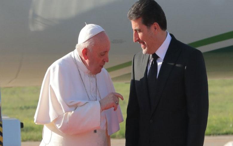 البابا فرنسيس لرئيس الإقليم: أنتم من استقبل المسيحيين بأحضان مفتوحة