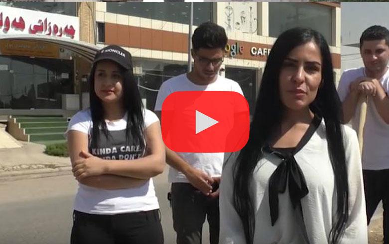 Xwendekarên R. Kurdistanê 100 darên zeytûnan li Hewlêrê çandin