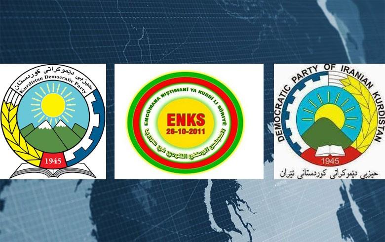 وفد من رئاسة الـ ENKS يزور احزاب كوردستانية ايرانية في كوية