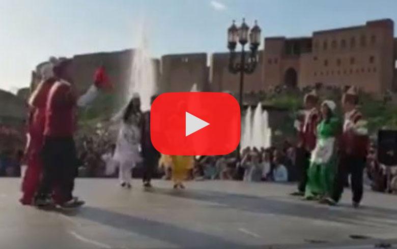 فیدیو .. مشاركه فرقة آرمانج عفرين في يوم الرقص العالمي