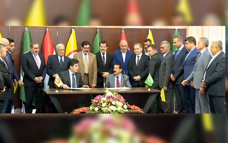 PDK û YNK rêkeftina avakirina hikûmeta Kurdistanê îmze kir